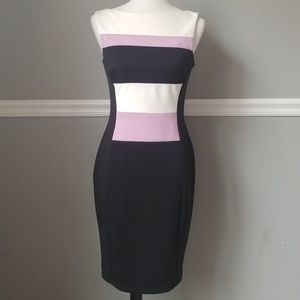 Stunning Maggy London color block dress size 6